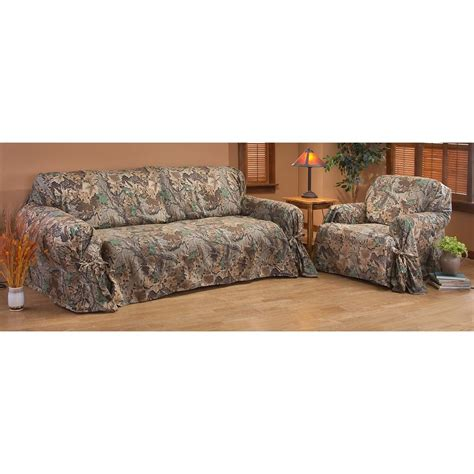 camo couch covers realtree 174 advantage furniture cover 166384 furniture