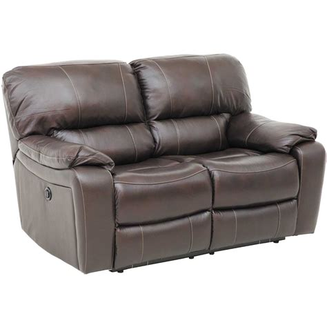 Leather Reclining Loveseat by Wade Brown Top Grain Leather Reclining Loveseat 7059 52