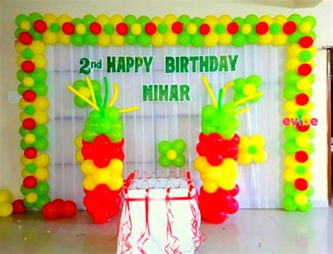 simple balloon decoration for birthday at home 28 images