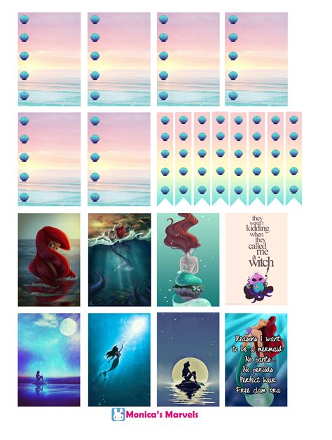 free printable stickers happy planner quot sticker kit quot little mermaid full boxes the happy planner
