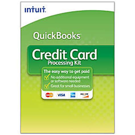 Office Depot Coupons For Quickbooks Quickbooks Credit Card Processing Kit Traditional Disc By