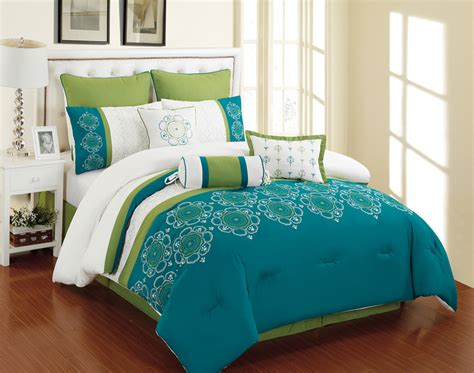 blue green comforter set green and blue bedding sets elegant bedroom with cozy