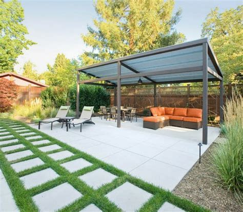 flachdach pavillon metall touching ideas of gazebo roof or cover image