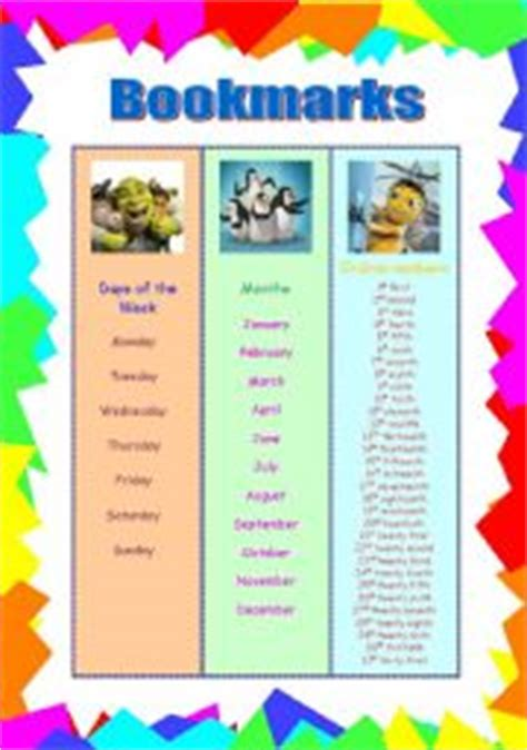 printable elementary bookmarks cute bookmarks for elementary students