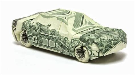 Dollar Bill Origami Car - dollar origami by won park and design