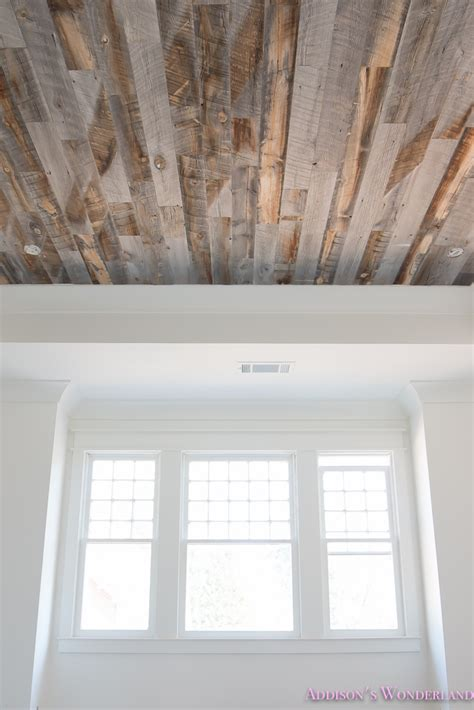 our reclaimed weathered wood stikwood ceiling addison s