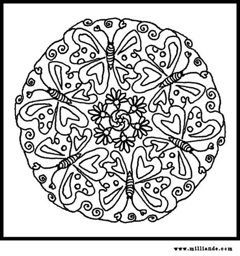 butterfly mandala coloring page free coloring pages butterflies clipart best