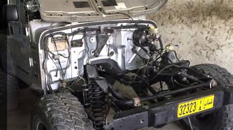 jeep wrangler swap   vortec  engine youtube