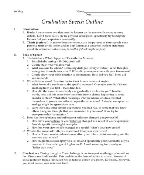 valedictorian speech template graduation speech exle 10 sles in pdf word