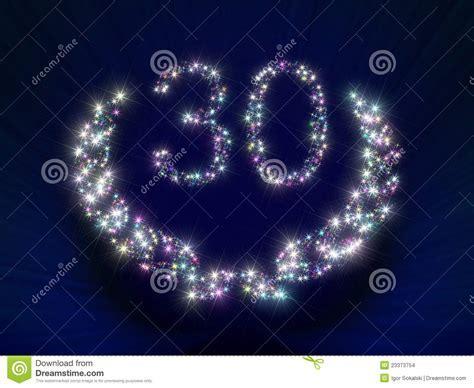 Anniversary Stars Number 30 Years Stock Illustration