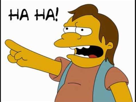 Haha Simpsons Meme - nelson muntz haha youtube