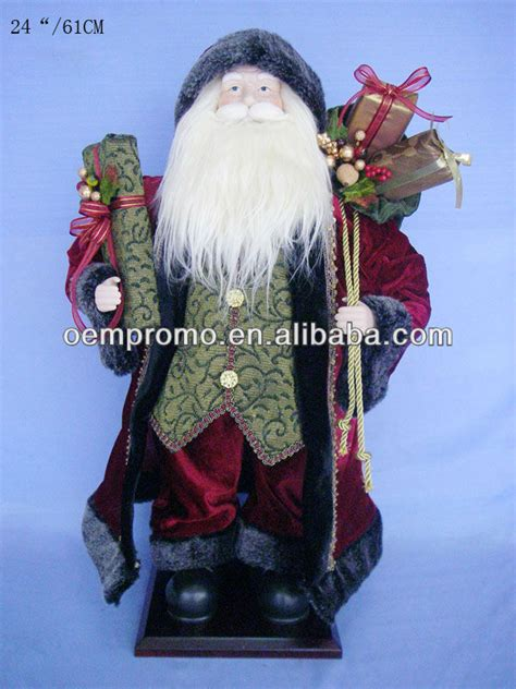 32 quot animated fiber optic santa claus for christmas