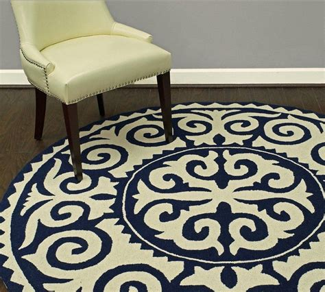 Navy Kitchen Rug with Rugs Usa Homespun Damask Trellis Navy Blue Rug Circle Rugs For Entry Way For The Home