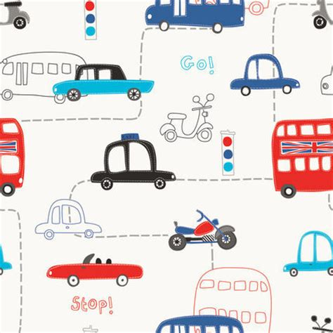 auto pattern finder non woven cartoon cars small car bus automobile roll