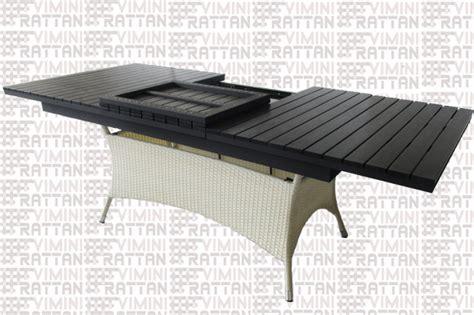 tavolo rattan bianco tavolo allungabile rattan sintetico bianco per esterno
