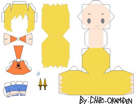 Chibi Papercraft Template - chibi animal templates for crafts