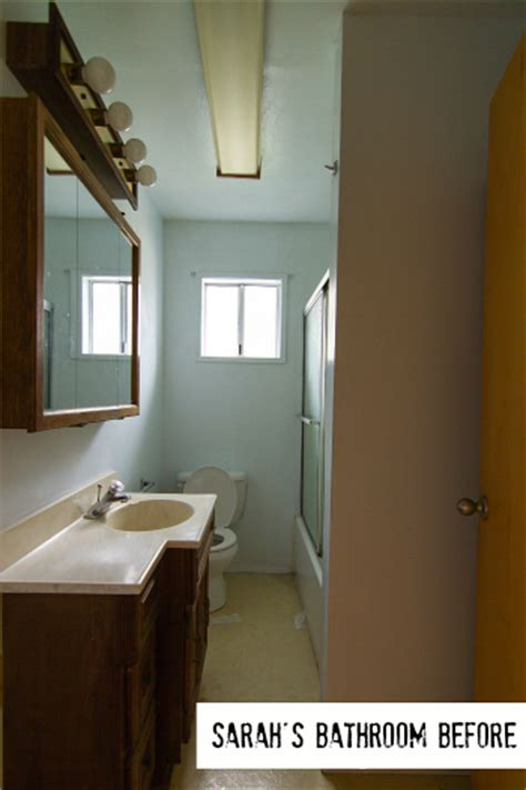 Square Bathroom Layout how sarah made her small bungalow bath look bigger