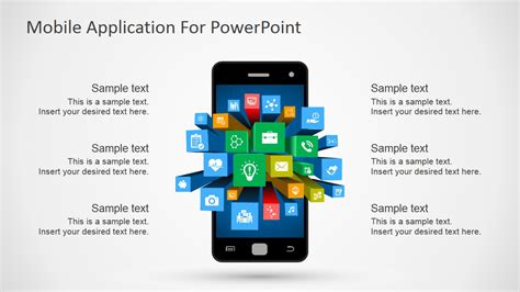Mobile Apps Metaphor Clipart For Powerpoint Slidemodel App Presentation Template Free
