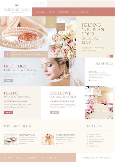 Wedding Planner Website Template Free