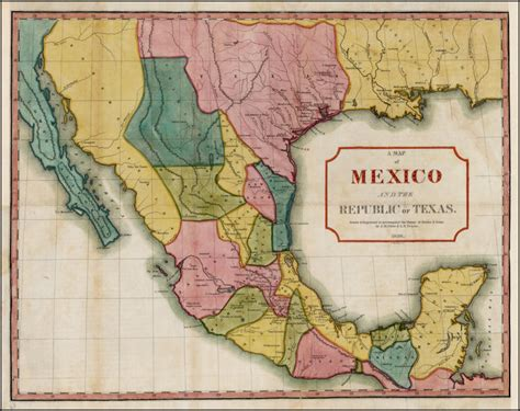 map of texas mexico map of mexico and texas mexico map