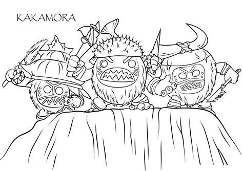 imagenes para colorear moana dibujo para colorear de los personajes kakamora de la