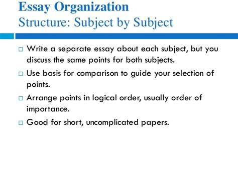 Structure Of A Compare And Contrast Essay by Essay Structures Compare Contrast Writefiction581 Web Fc2