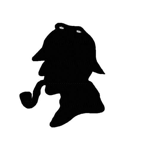sherlock silhouette applique instant