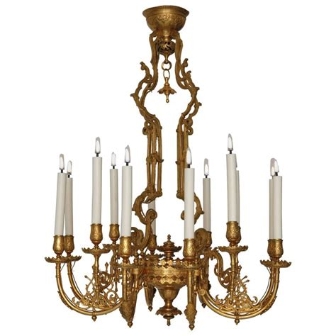 Japanese Influence Gilded Bronze Chandelier For Sale At Japanese Chandeliers