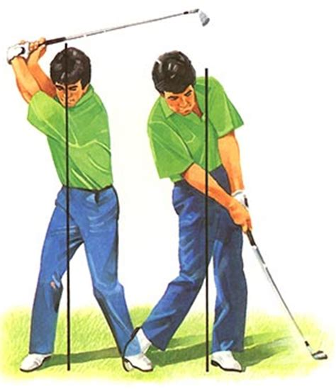 golf swing left knee action downswing