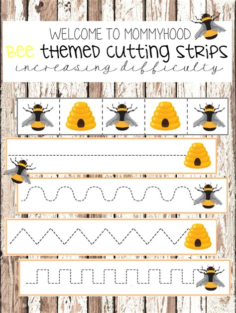images of bee curriculum for preschool welcome to mommyhood free bee cutting strips for scissor