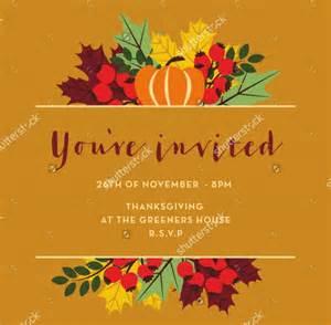 21 thanksgiving invitation designs psd vector eps ai illustrator