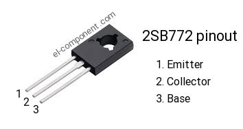 equivalent transistor nec b772 2sb772 p n p transistor complementary npn replacement pinout pin configuration substitute