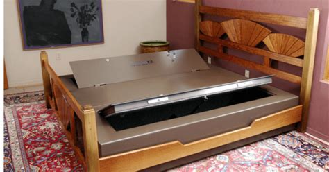10 Creative Secret Gun Cabinets For Your Home The Truth Bed Frame Gun Safe