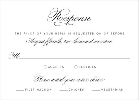 Wedding Invitation Reply Card Template by Wedding Invitation Reply Card Wording Wedding Response