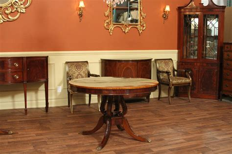 mahogany dining room table round mahogany dining table 44 quot reproduction antique