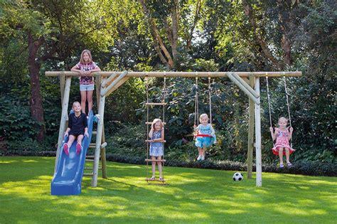garden swing sets antoine garden swing and climbing set