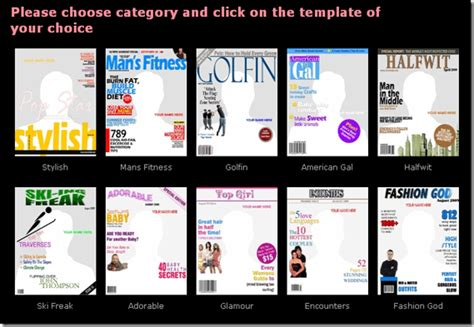 custom magazine cover templates create your own custom magazine covers with coverdude