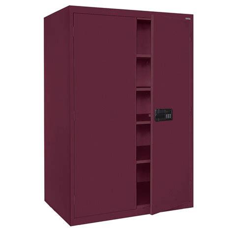 Electronics Storage Cabinet Sandusky Elite Series 78 In H X 46 In W X 24 In D 5 Shelf Steel Keyless Electronic Handle