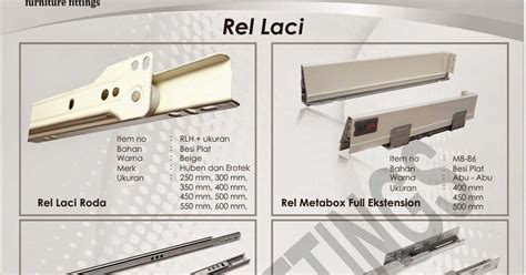 Rel Laci 50cm Huben Diskon rel laci huben berbagai model dan ukuran lintang fittings