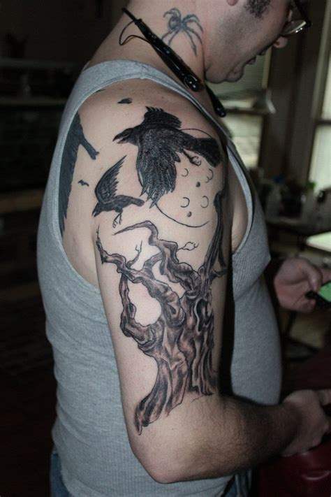 raven shoulder tattoo on shoulder creativefan