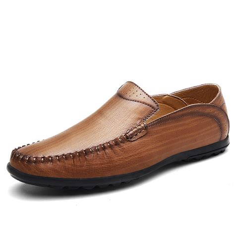 business shoes c men stitching honeycomb mesh soft loafers breathable
