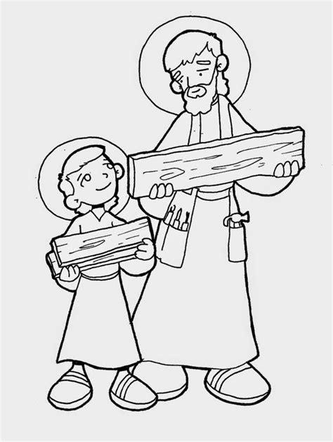 imagenes de jesus jose y maria para colorear 174 blog cat 243 lico gotitas espirituales 174 imagen de san jos 201