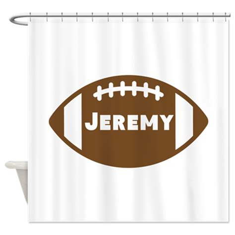 football shower curtain personalized football shower curtain by personalizedgifts2