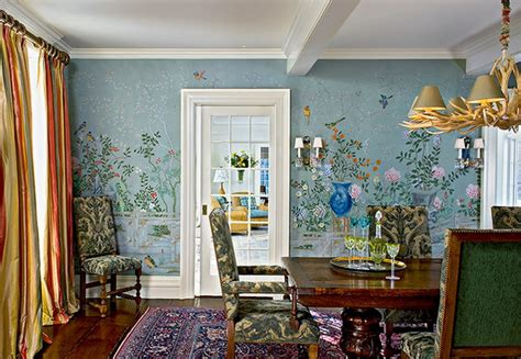colorful flowers wall murals in dining room wallpaper