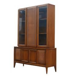 52 quot x 73 quot vintage wood cane glass hutch china cabinet ebay