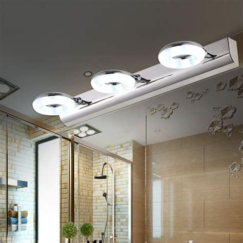 Waterproof Bathroom Lights Brief Waterproof Led Mirror Light Stainless Steel Bathroom Light Microscopy Cabinet Wall L