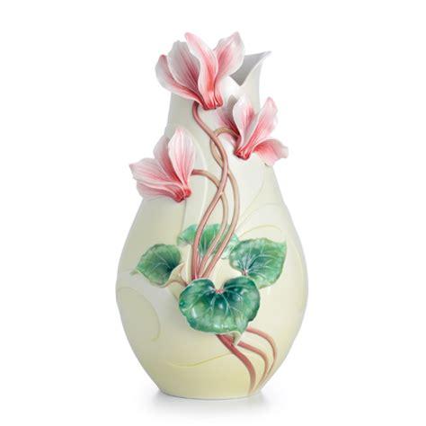Big Flower Vase Design by Franz Porcelain Collection Violet Flower Large Vase