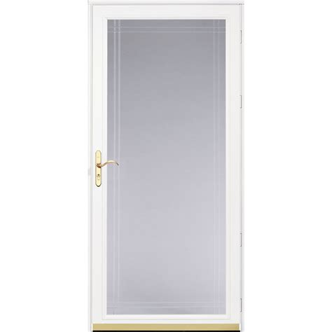 Screen Door Glass Shop Pella Royalton White View Beveled Safety Glass