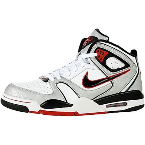 nike air flight falcon mens basketball shoes nike air flight falcon white black metallic silver