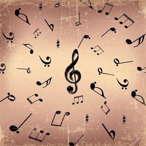 imagenes musicales retro fondo de s 237 mbolos de m 250 sica vintage vector de stock